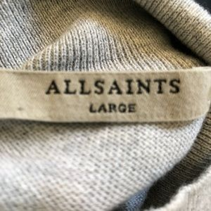 All Saints Sweaters - All Saints Cold Shoulder Cecily Sweater. Grey L